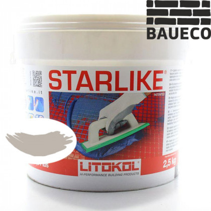 Эпоксидная затирка Litokol Starlike C.220 Silver Светло-серый