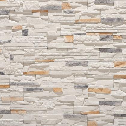 Декоративный камень Тонкий пласт 3 цв Белый