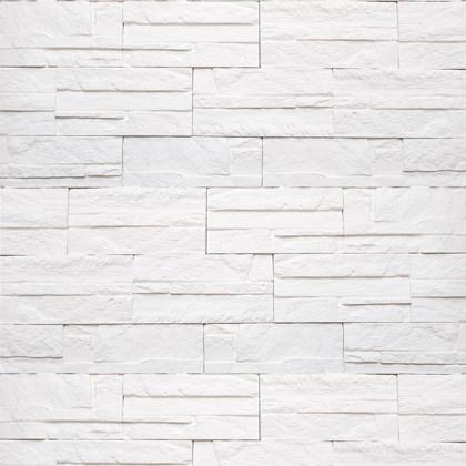 Декоративный гипсовый камень Боро 01 цв Белый