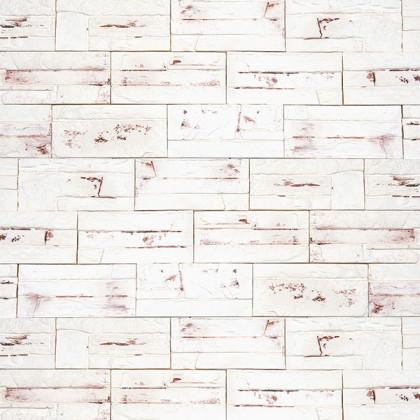 Декоративный гипсовый камень Боро 02 цв Белый патинированный