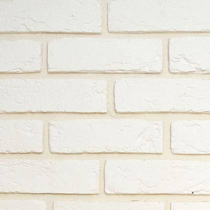 Гипсовая плитка - кирпич ручной формовки 400 цв белый