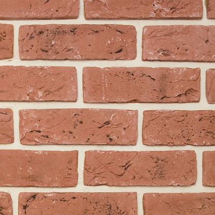 Гипсовая плитка - кирпич ручной формовки цв 415 Терракотовый