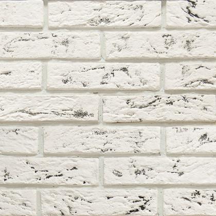 Гипсовая плитка Эко Кирпич 301 цв белый