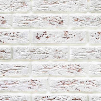 Гипсовая плитка Эко Кирпич 317 цв Белый