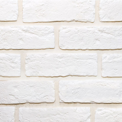 Гипсовый декоративный кирпич Саман 200 цв Белый