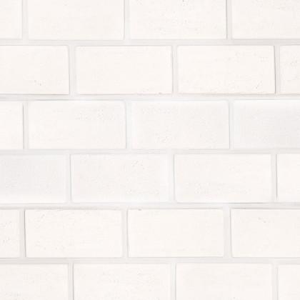 Гипсовая плитка Травертин 1200 цв Белый