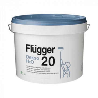 Краска для стен Flugger Dekso 20 H2O особо прочная полуматовая (0,75 л)