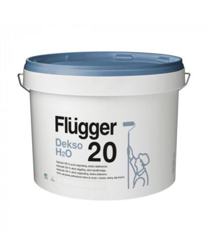 Особо прочная полуматовая краска для стен Flugger Dekso 20 H2O