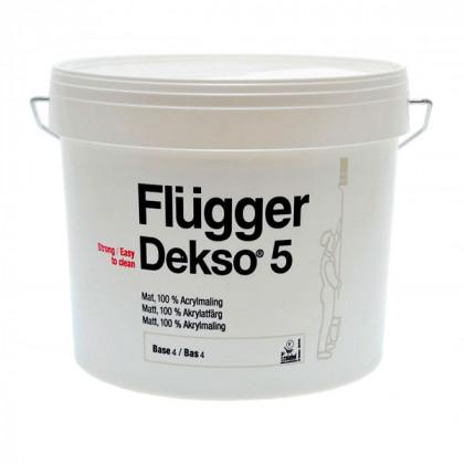 Краска для стен Flugger Dekso 5 экстра прочная матовая (0,75 л)