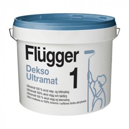 Прочная глубоко матовая краска для стен Flugger Dekso 1 ultramat