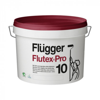 Краска для стен Flugger Flutex Pro 10 шелковисто - матовая (0,75 л)