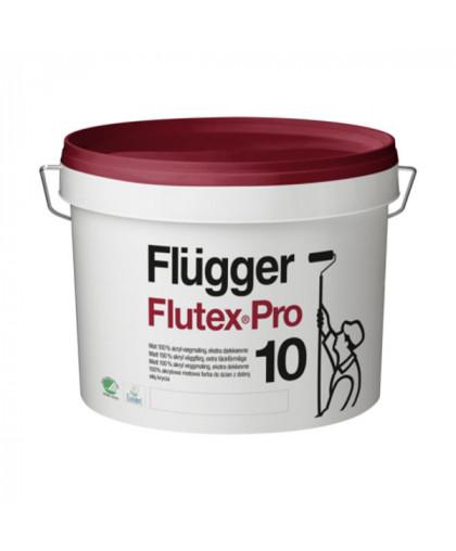 Шелковисто - матовая износостойкая краска для стен Flugger Flutex Pro 10