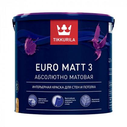 Краска для стен Tikkurila Euro Matt 3 матовая (0,9 л)