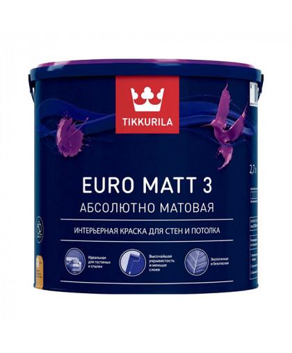 Моющаяся краска для стен Tikkurila Euro Matt 3 умеренная износостойкость