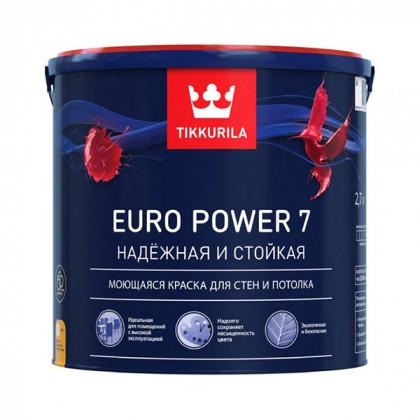 Краска для стен Tikkurila Euro Power 7 матовая (0,9 л)