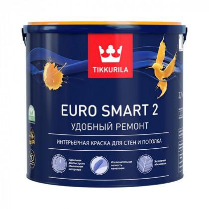 Краска для стен и потолка Tikkurila Euro Smart 2 матовая (0,9 л)