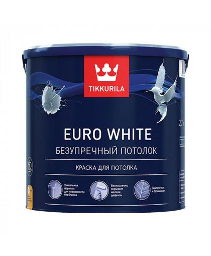 Краска для потолка без бликов Tikkurila Euro White