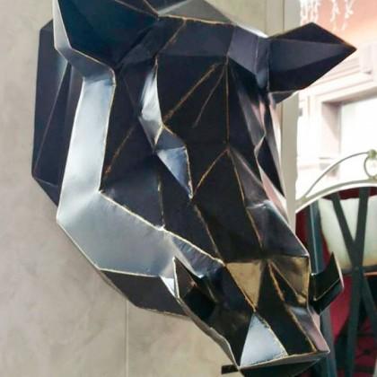 Голова кабана из металла
