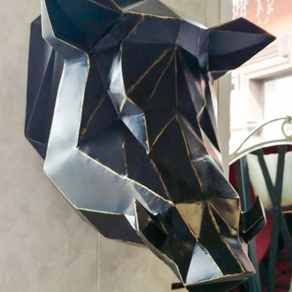 Декоративный элемент голова Кабана