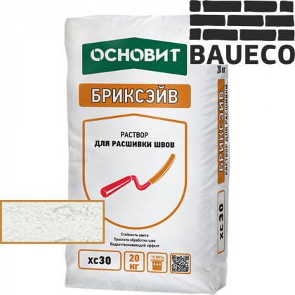 Затирка для камня и кирпича Бриксэйв XC 30 цв Супербелый 011 (20 кг)