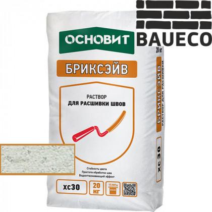 Затирка для камня и кирпича Бриксэйв XC 30 цв Белый 010 (20 кг)